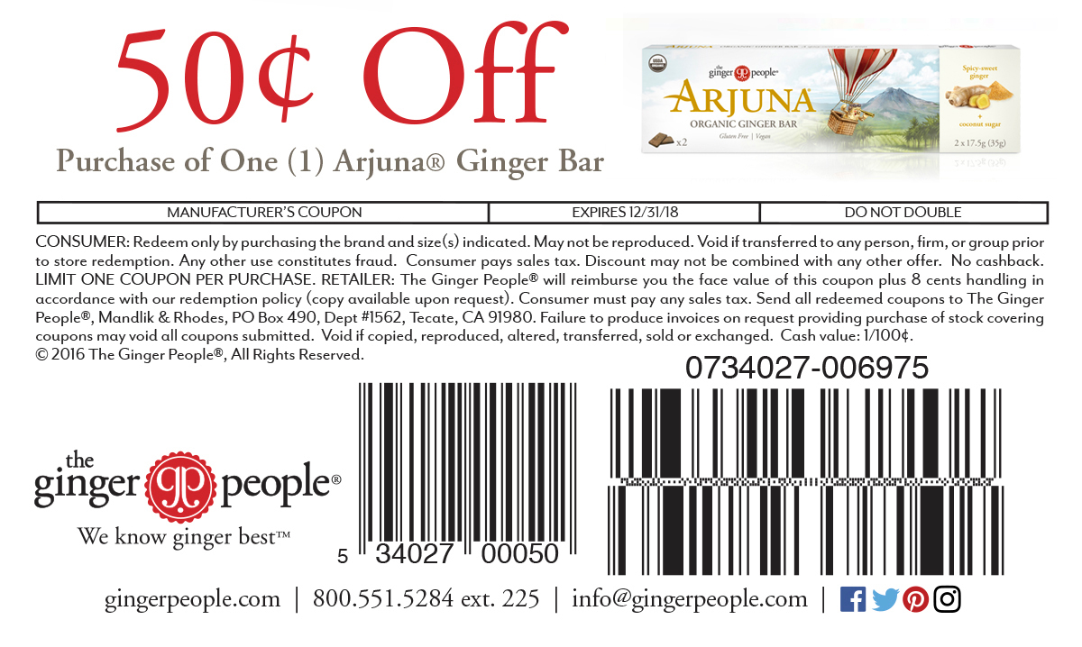 Arjuna Ginger People Coupon