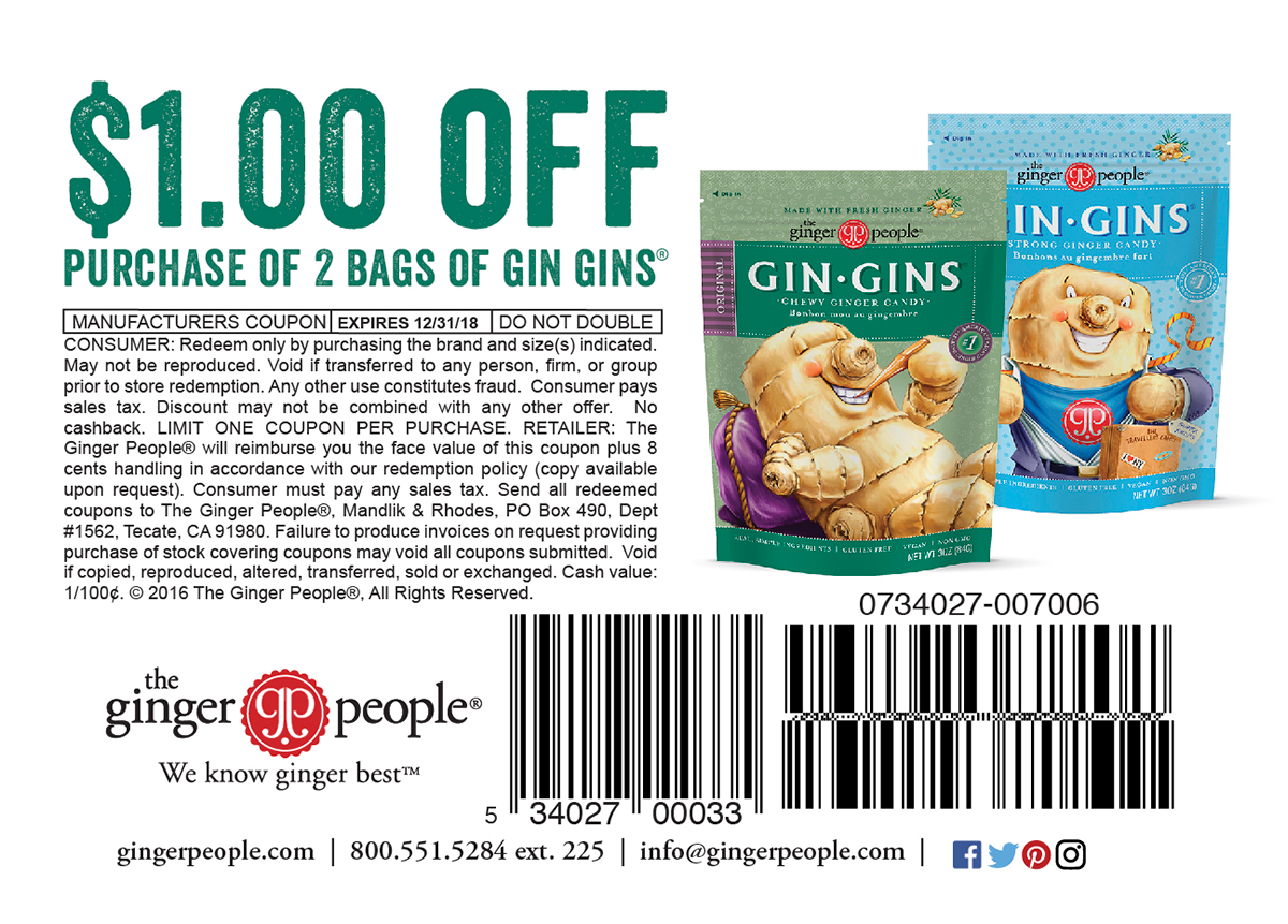 Gin Gins Ginger Candy
