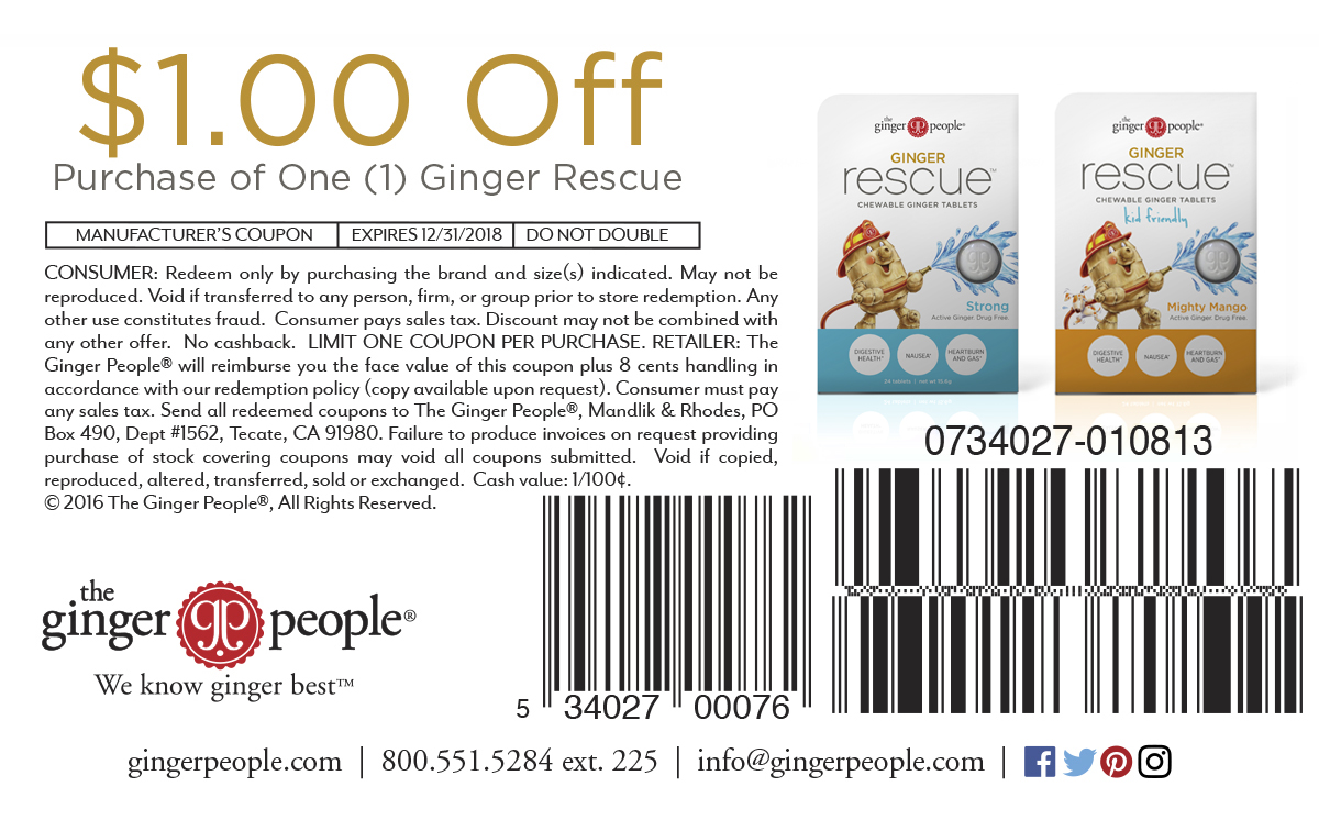 ginger Rescue Coupon 2018