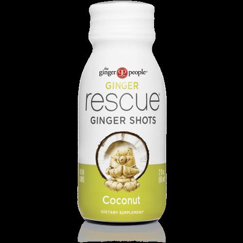 ginger rescue- ginger shots - ginger people - coconut