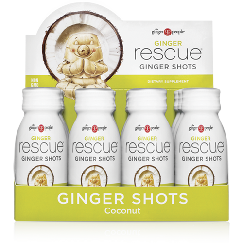 ginger rescue- ginger shots - ginger people - coconut