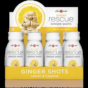 ginger rescue - ginger shots - lemon cayene