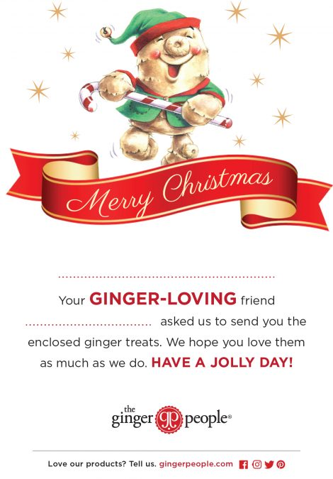 ginger people christmas card
