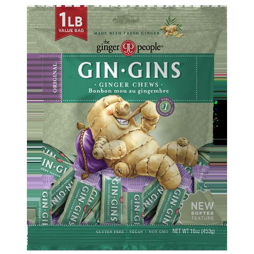 gin gins original 1lb bag - ginger chews