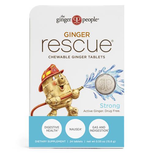 Ginger Rescue® Chewable Ginger Tablets – Strong